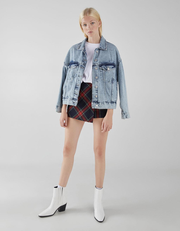 Falda pantalón de cuadros