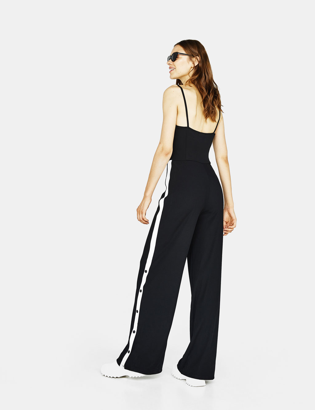 36e6289733 Long ribbed jumpsuit with snap buttons Long ribbed jumpsuit with snap  buttons ...