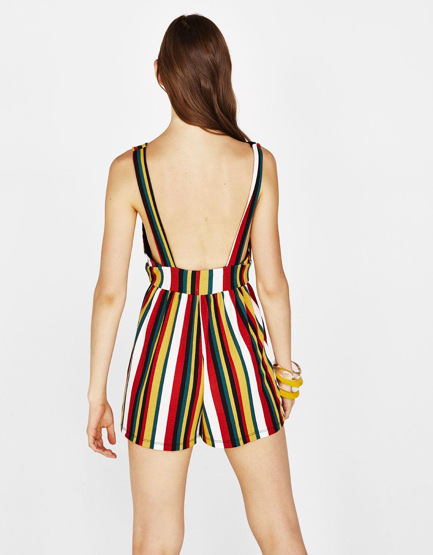 d5b0be867c3b Strappy short jumpsuit - Dresses - Bershka Armenia