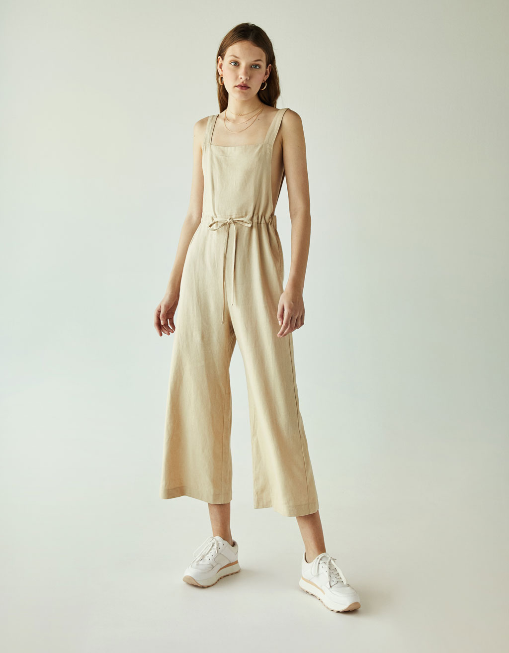 Long linen jumpsuit