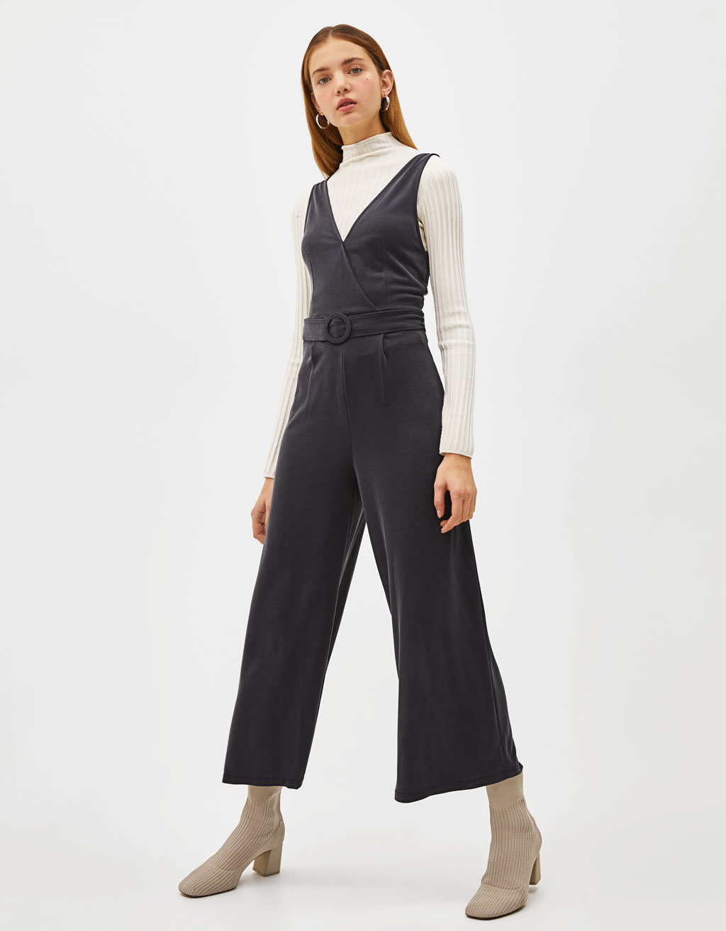 Jumpsuit with belt