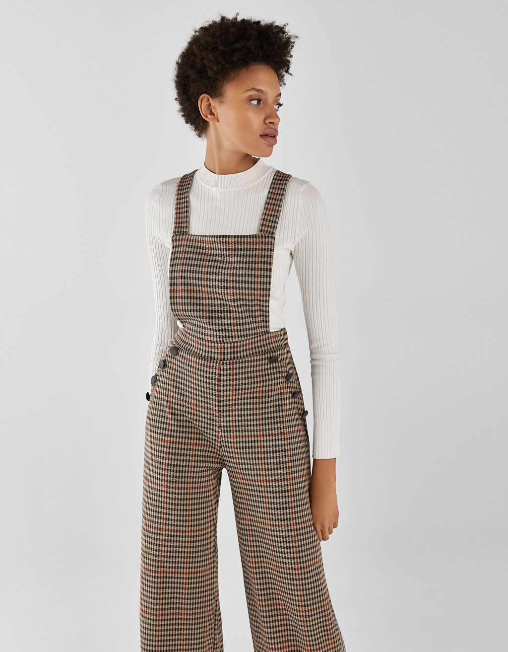 Long dungarees with braces