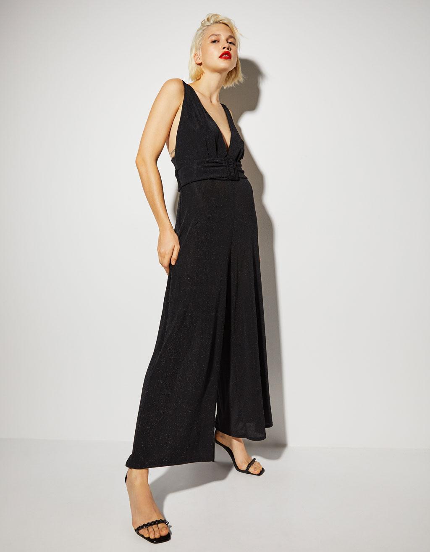 Öves hosszú nadrágruha