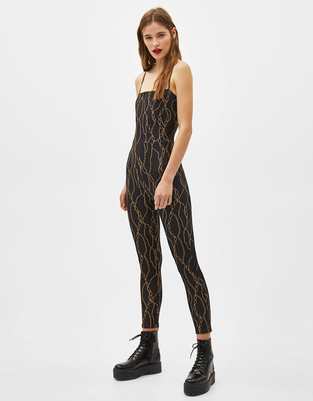 Jumpsuit met kettingprint