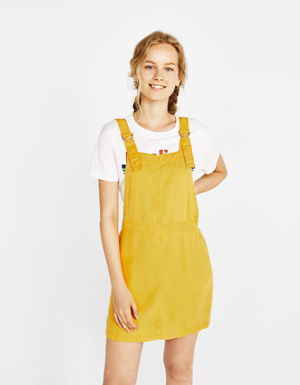 Tencel® pinafore dress.