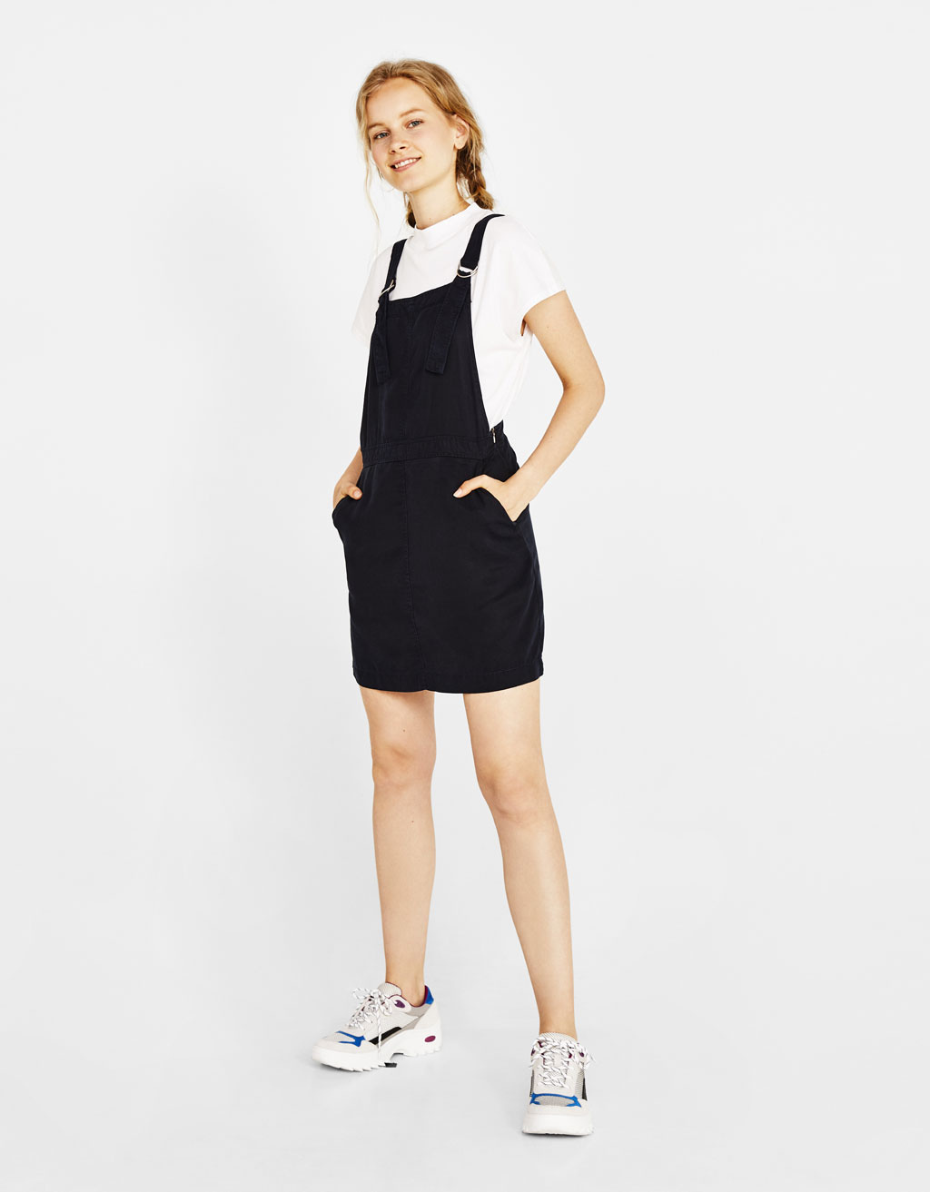 Tencel® pinafore dress