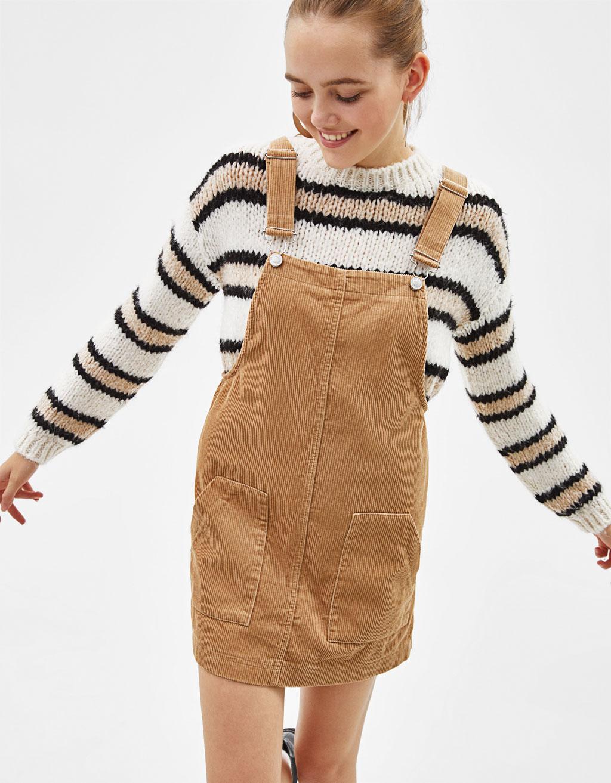 oferta especial proporcionar un montón de nueva apariencia Peto de pana tipo falda