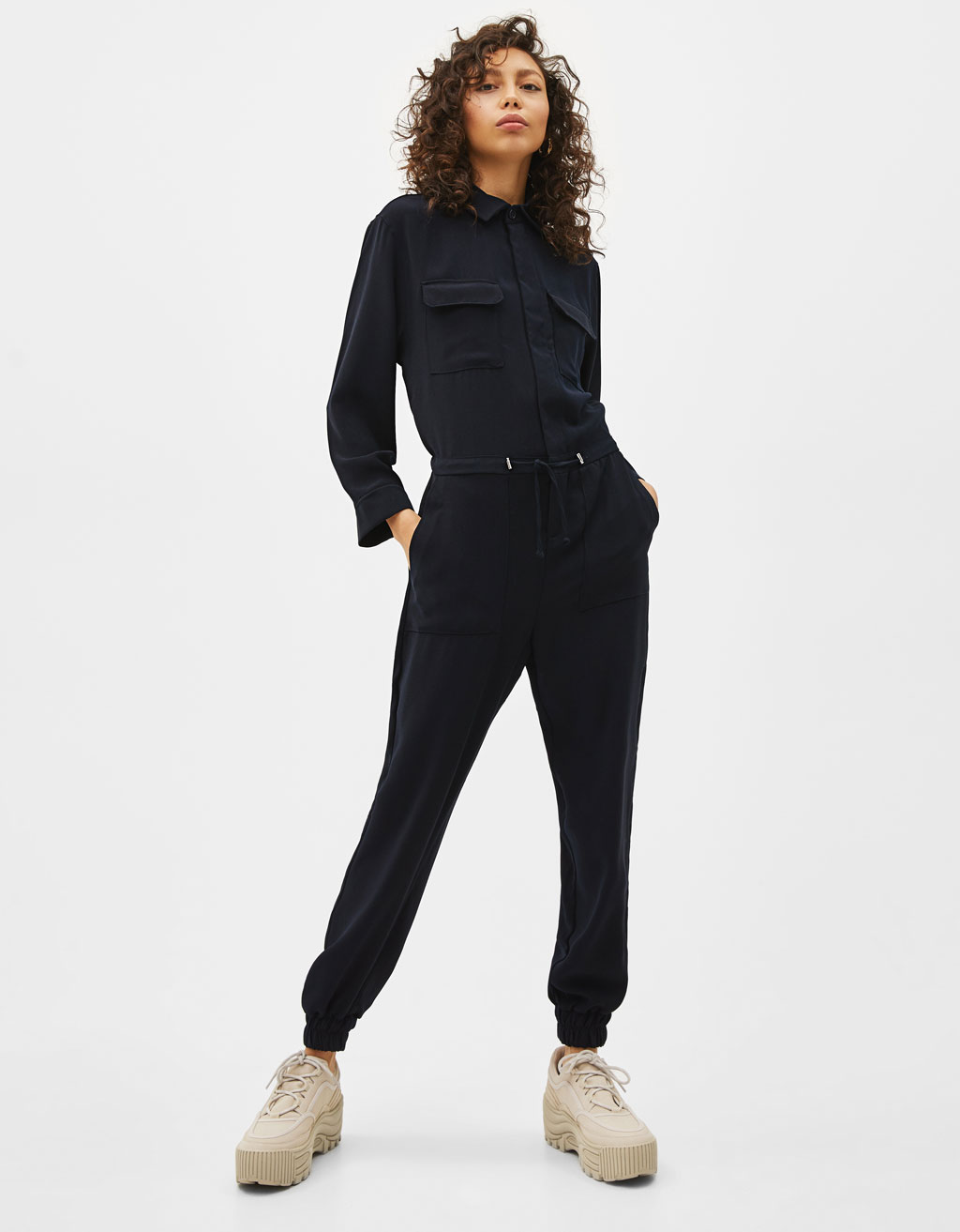 2d8de24ea16 Long utility jumpsuit - Playsuits   Jumpsuits - Bershka Jordan