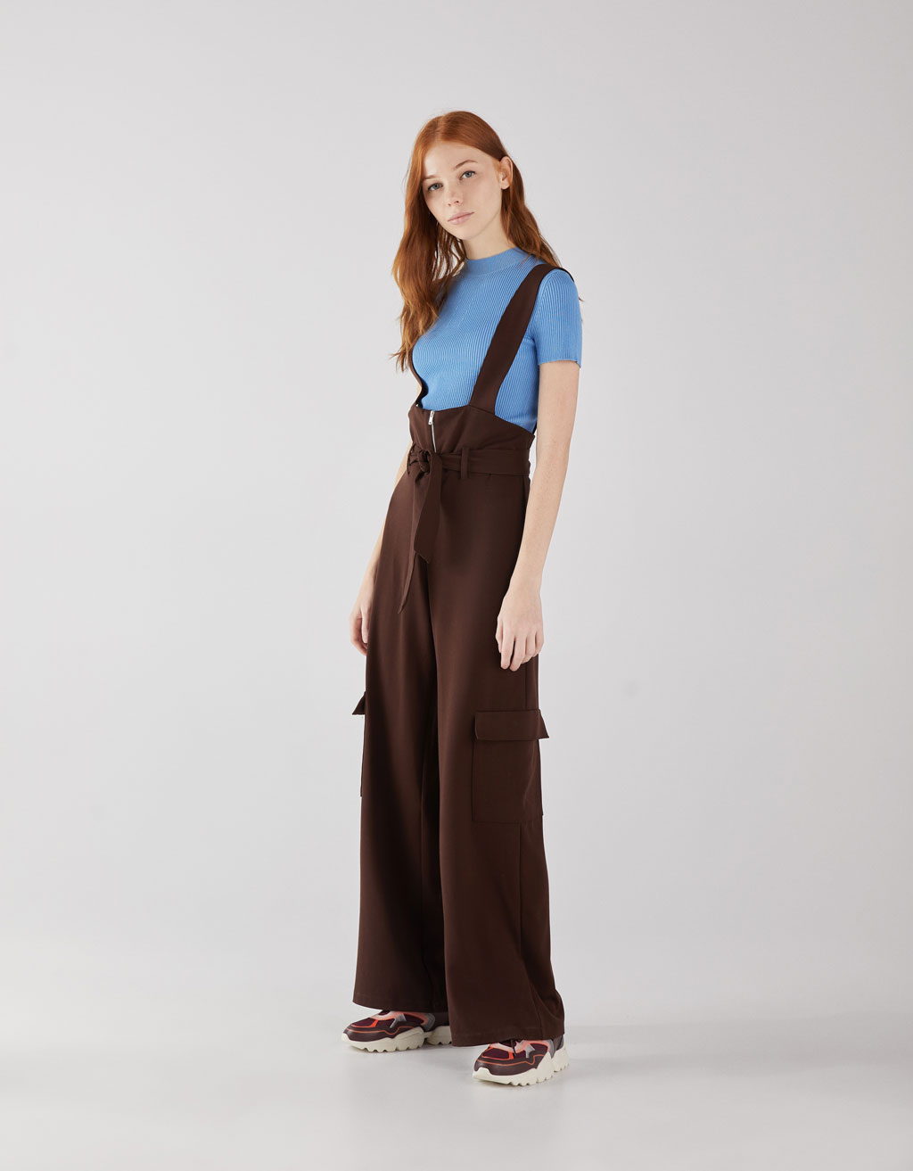 Dungarees with cargo pockets