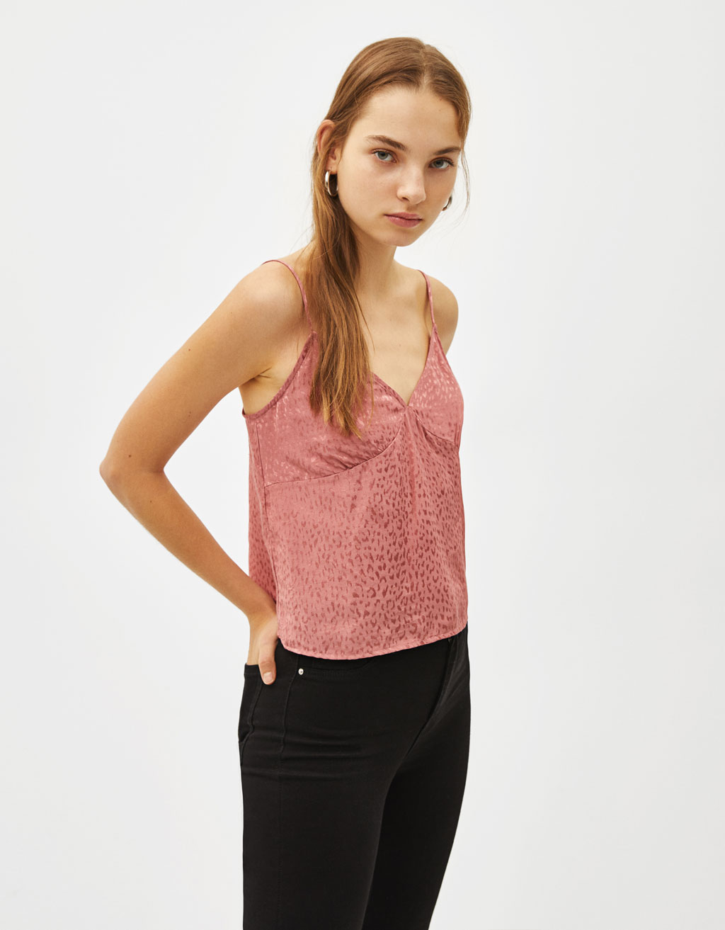 Jacquard strappy top