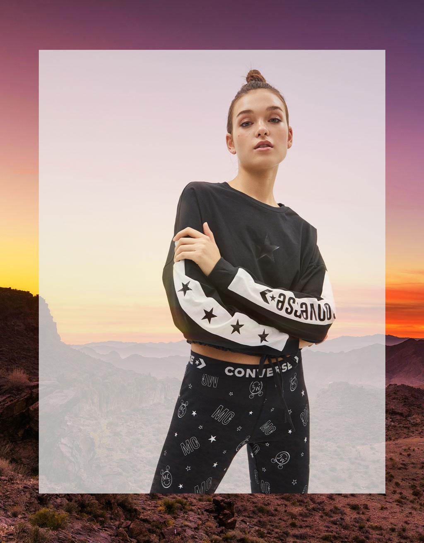 Cropped sweatshirt weatshirt Miley Cyrus x Converse