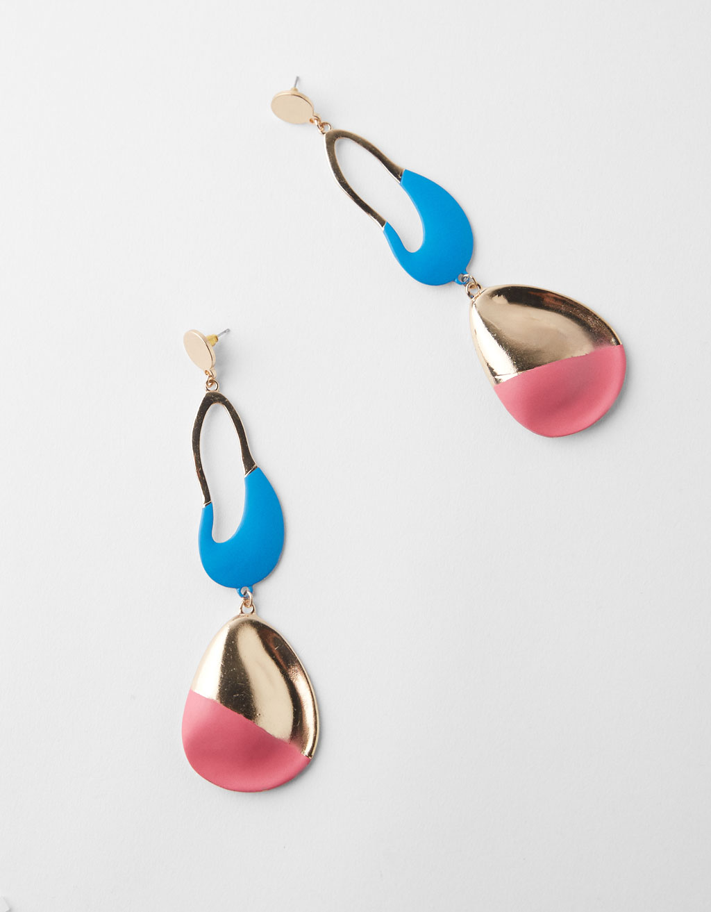 Maxi earrings with colour