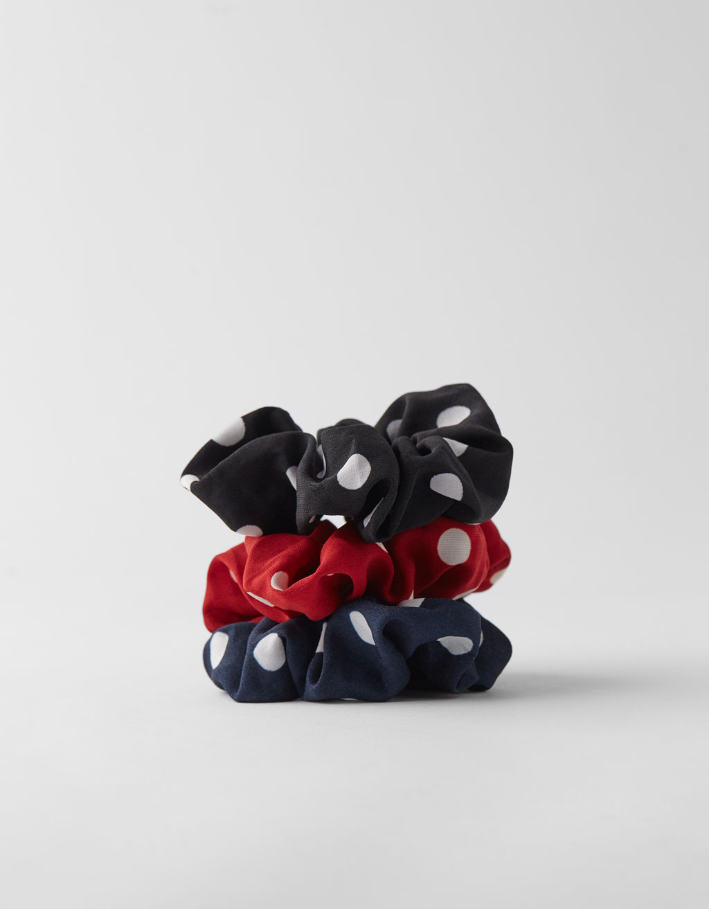 Set of 3 polka dot scrunchies