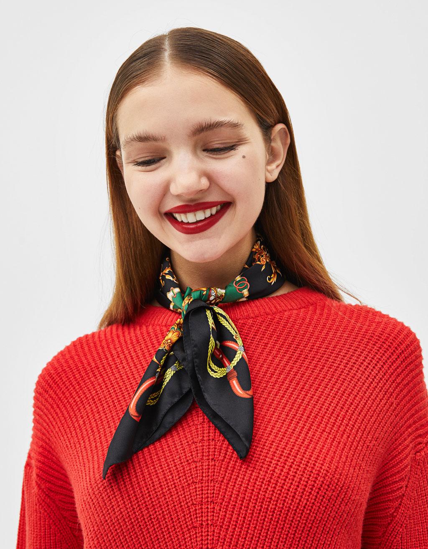 Vintage print neckerchief