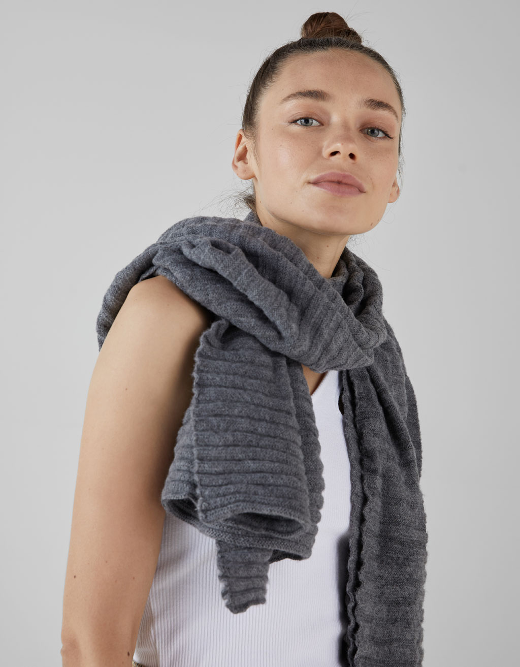 Join Life ribbed scarf