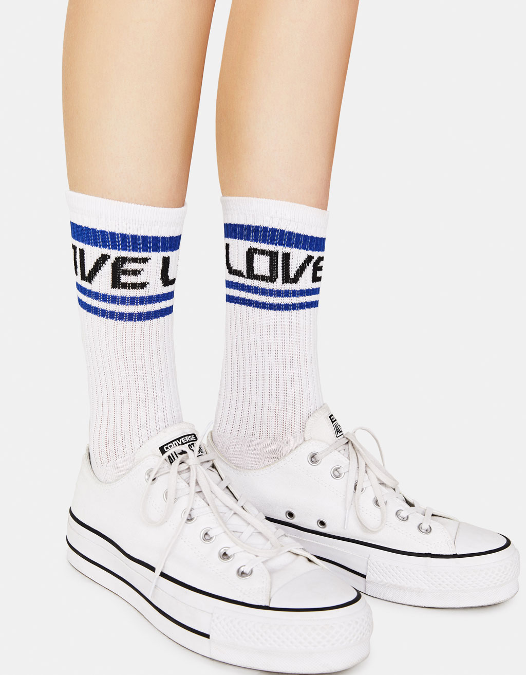 Pack of 2 pairs of 'love' socks