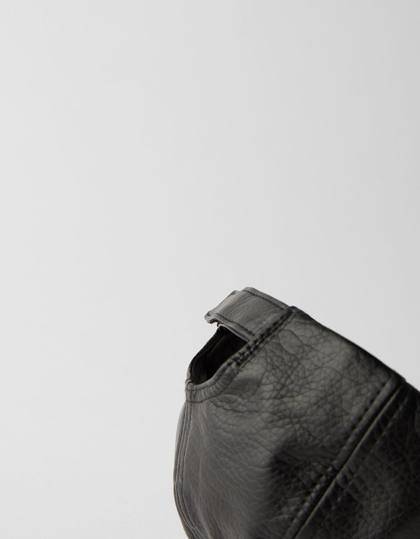 Faux leather cap - CLOTHING - Bershka Czech Republic 73d201fcda721