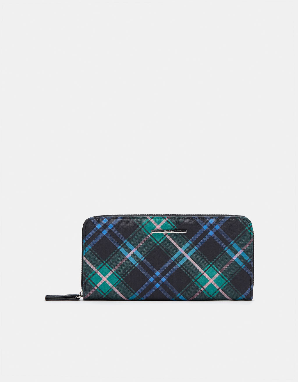 Faux Saffiano coin purse