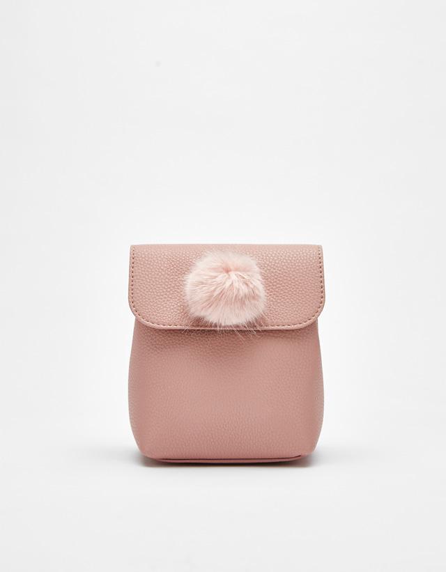 Geometrischer Rucksack mit Pompon