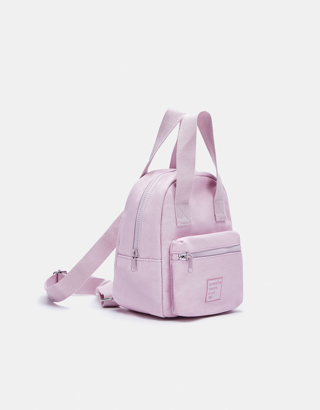 Canvas backpack with handles