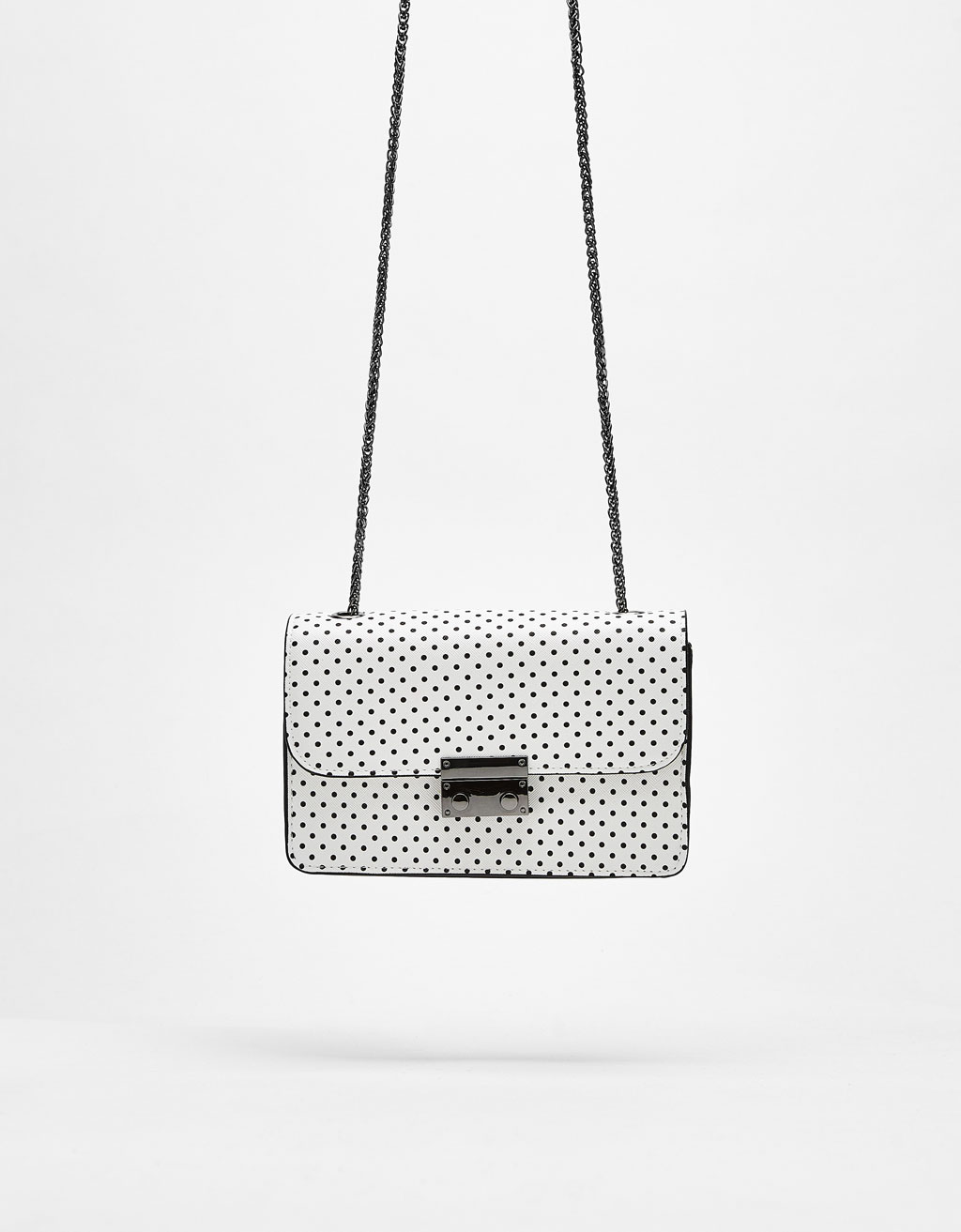 Printed mini handbag with clasp