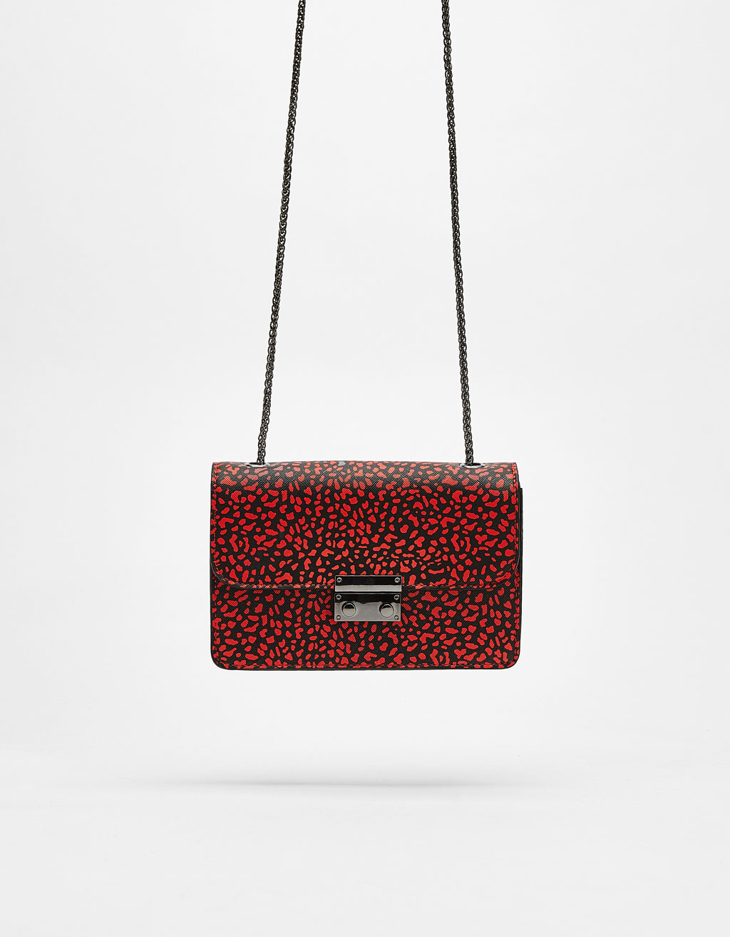 Mini print handbag with clasp