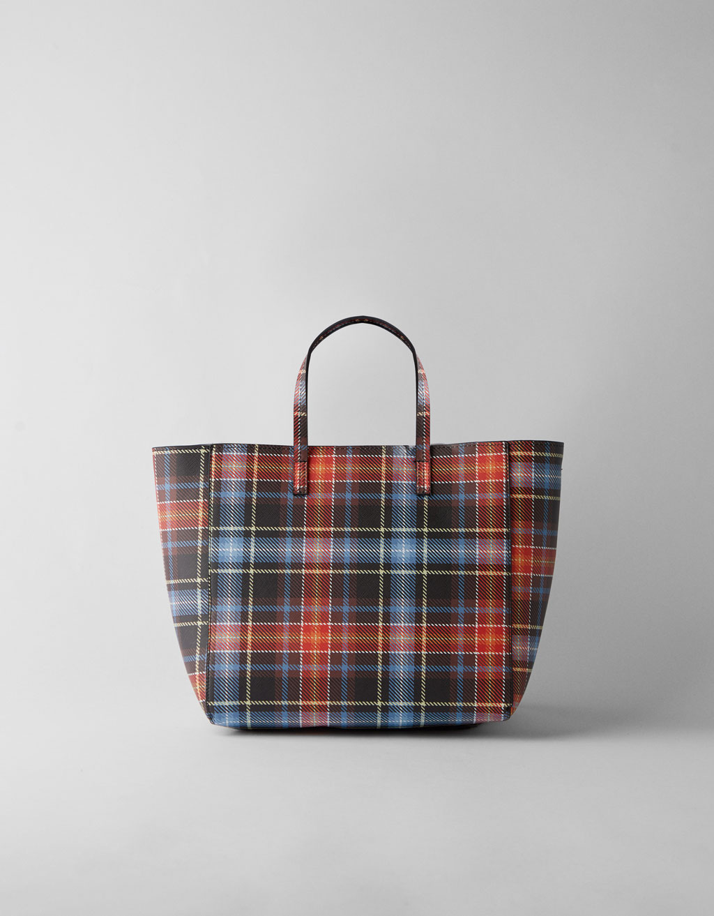Checked tote bag
