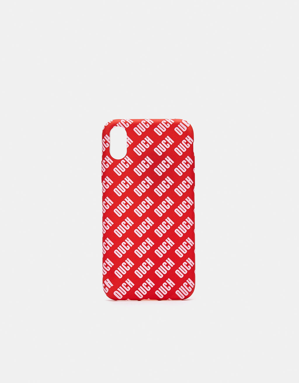 iPhone X case with all-over slogan