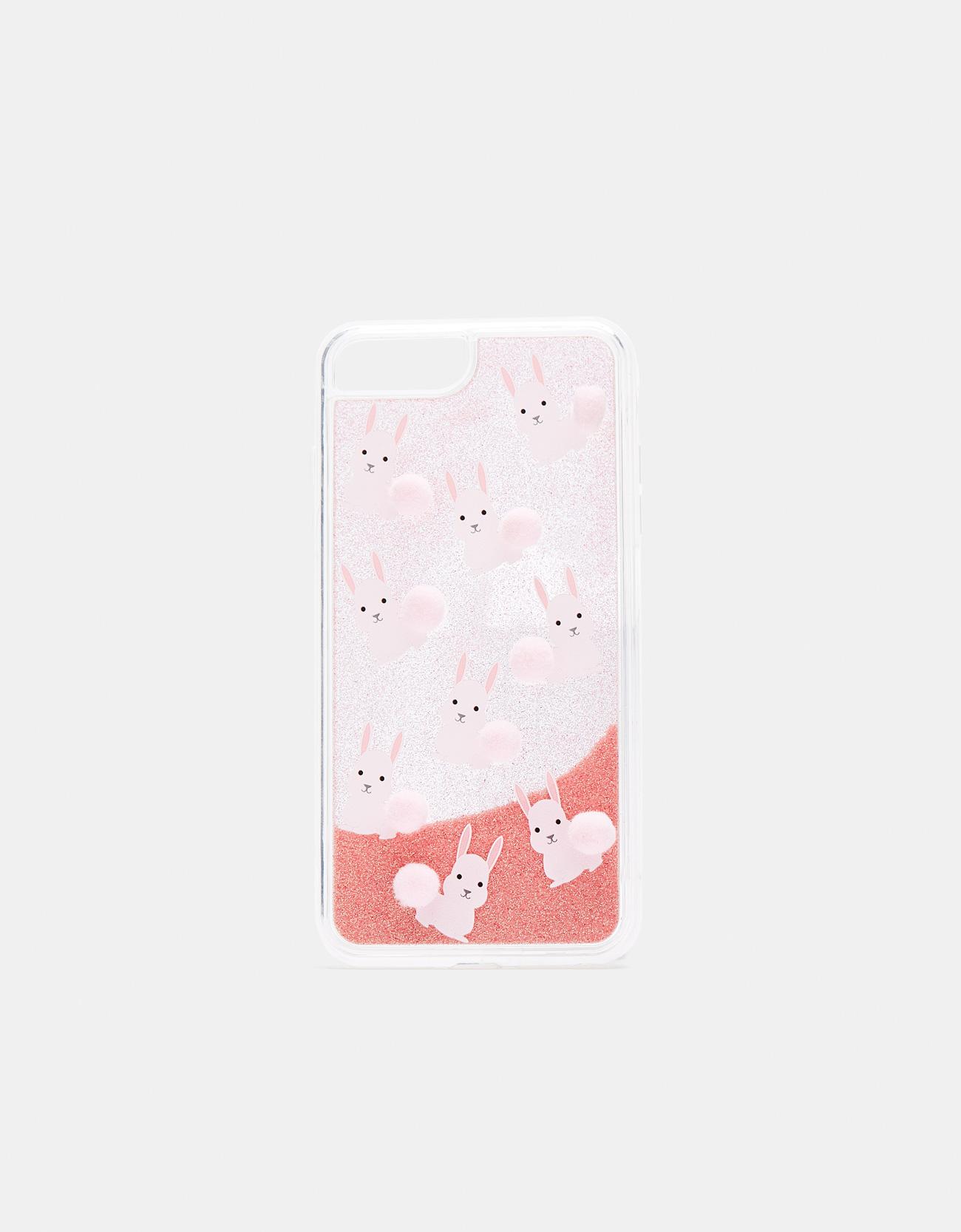 Handyhülle mit Pompons für iPhone 6 plus / 7 plus / 8 plus