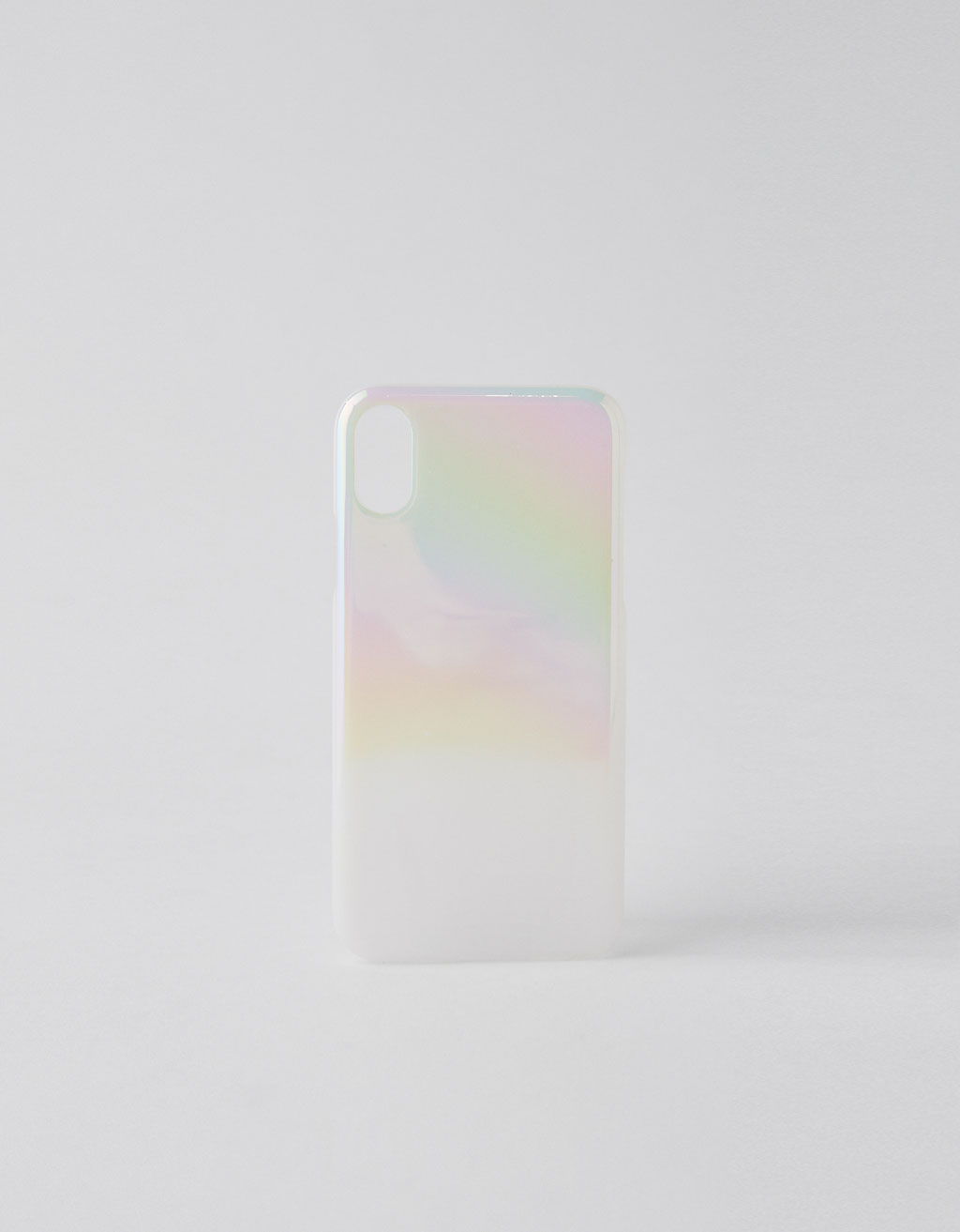 Cover iPhone X iridescente