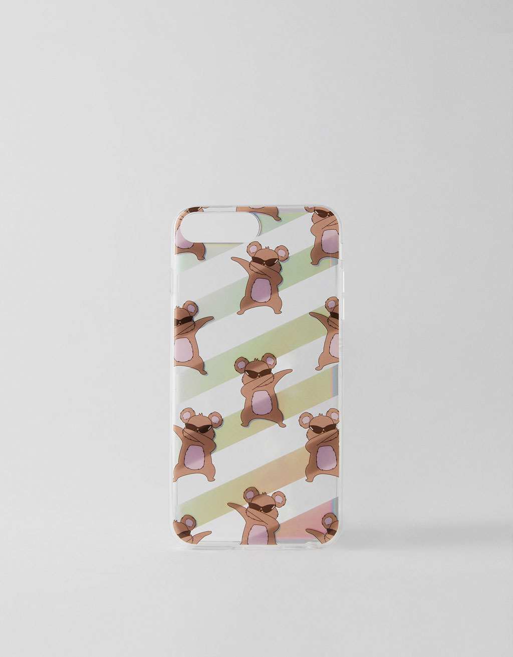 Bear with sunglasses case
