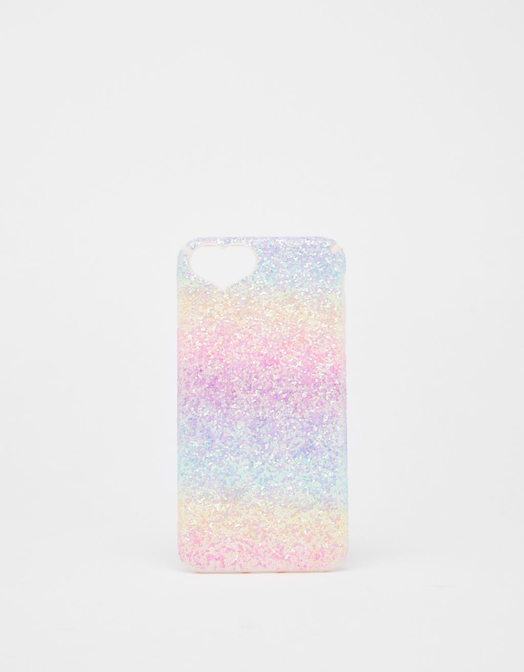 Coque à paillettes cœur iPhone 6 plus/7 plus/8 plus