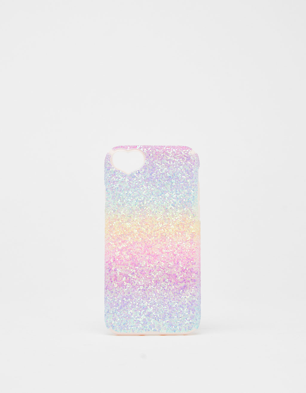 Shiny iPhone 6/6s/7/8 case with heart detail