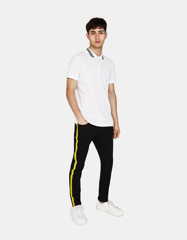 Skinny-Fit-Hose mit seitlichem Streifen