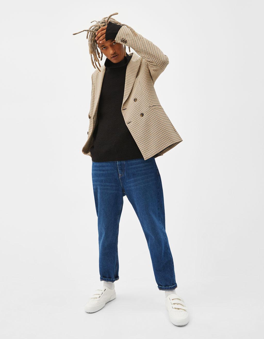 Пиджак с принтом «гусиная лапка»