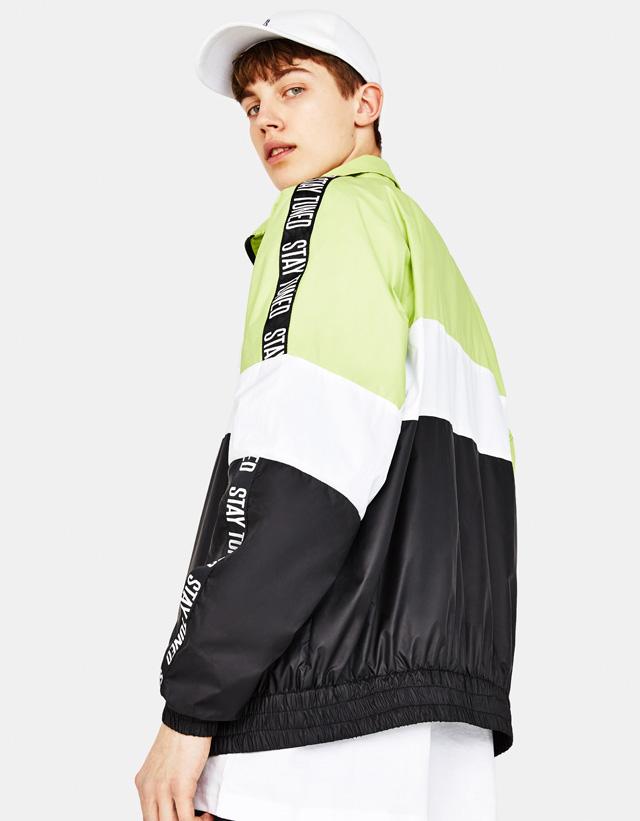 Retro-Jacke mit seitlichem Streifen