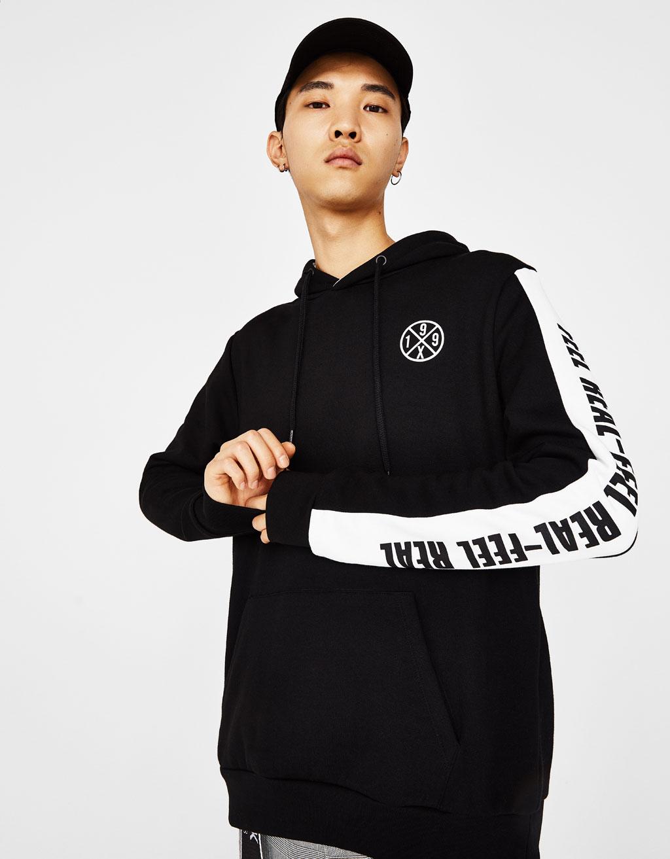 Sweatshirt with contrasting band