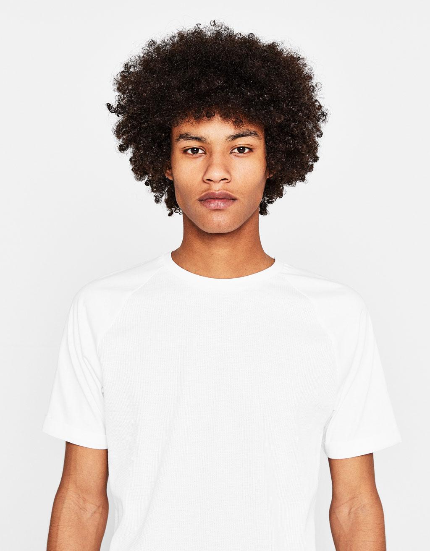 Shirt mit Waffelgewebe
