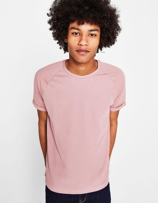 Μπλουζάκι με ανάγλυφη ύφανση