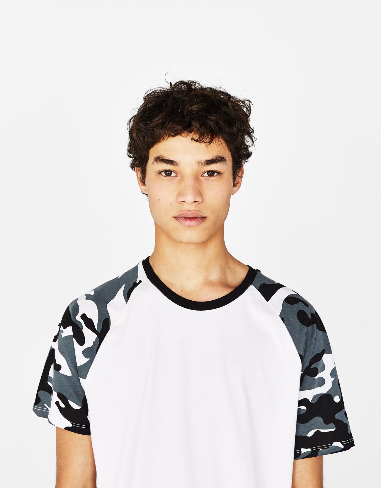 fde2bbf85531 Bershka Raglan baseball-style T-shirt at £7.99 | love the brands