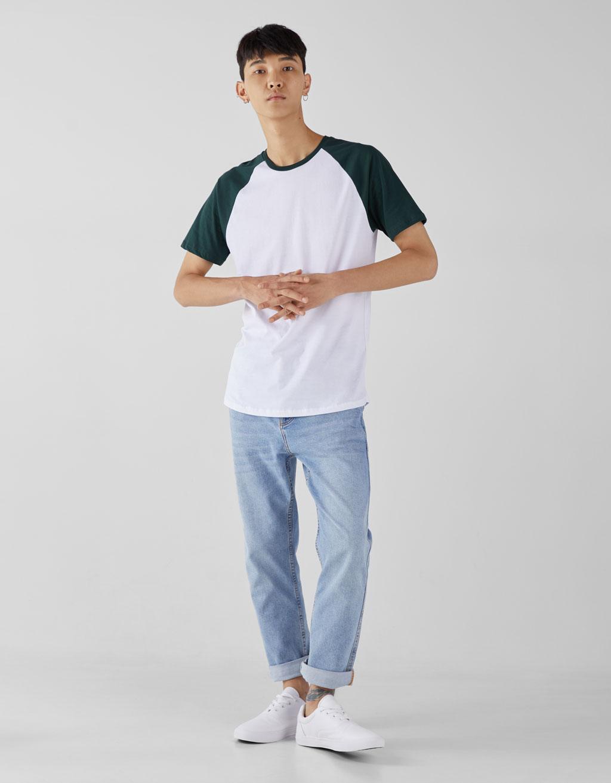 Raglan baseball-style T-shirt