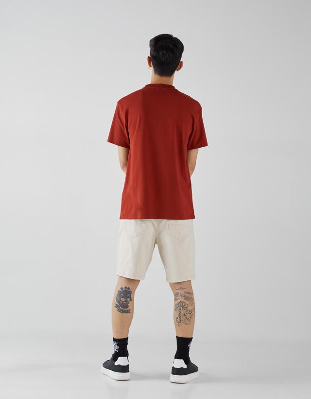 Baumwollshirt High Neck