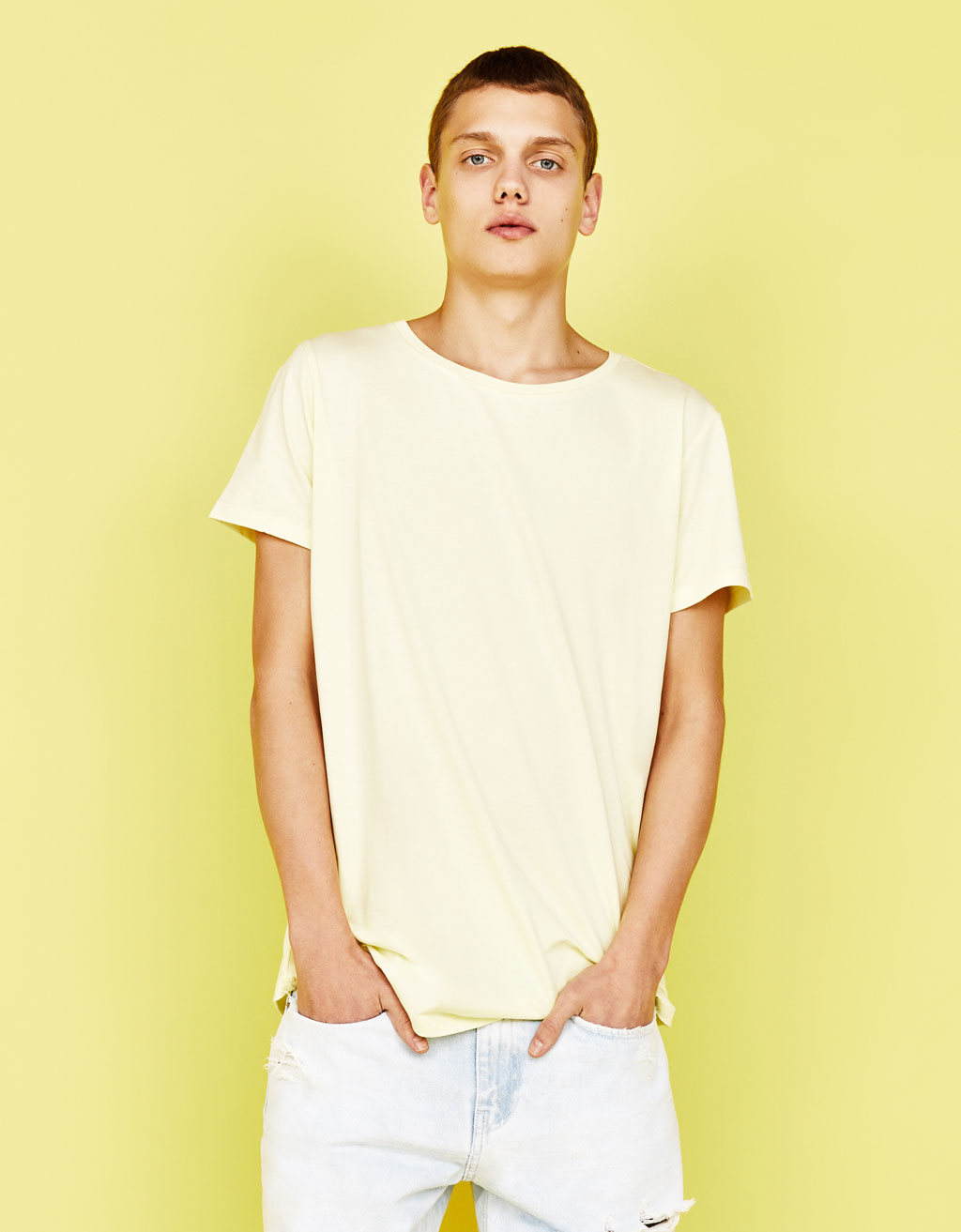 T-shirt met scoop neck