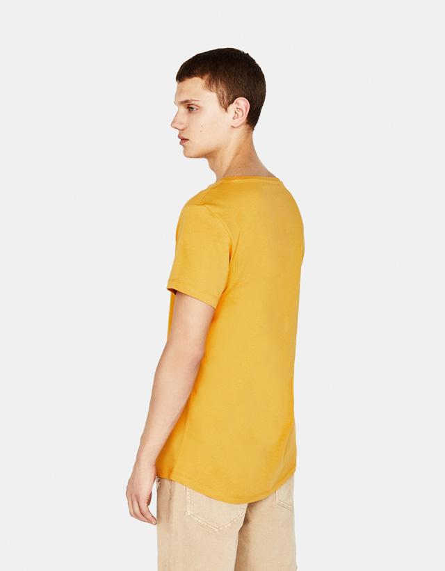 Shirt mit Scoop Neck