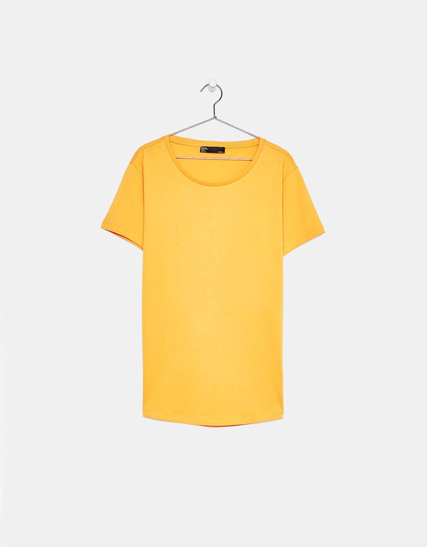 0423959bc73 T-shirt col rond échancré - Tricot - Bershka France