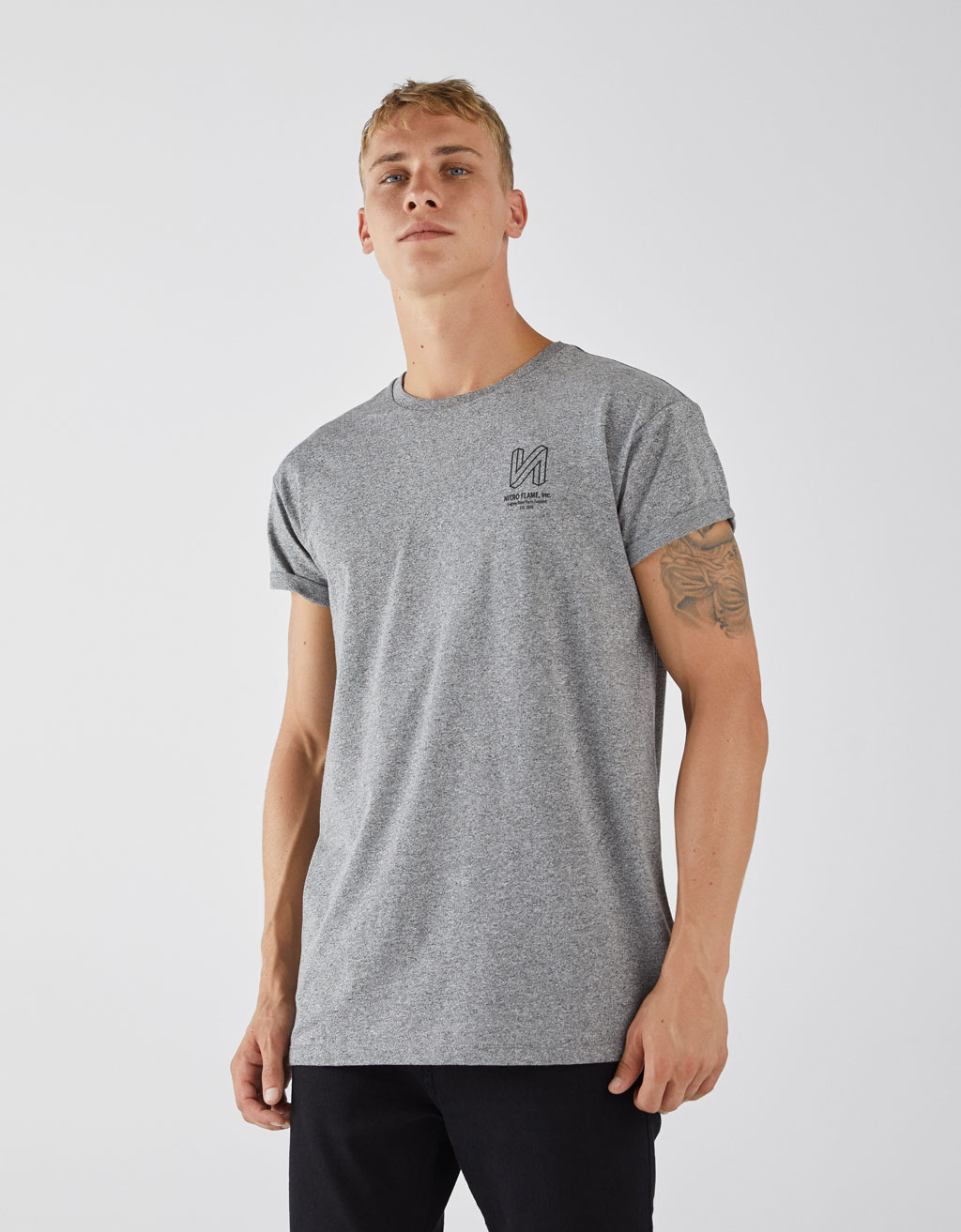 T-shirt met muscle fit