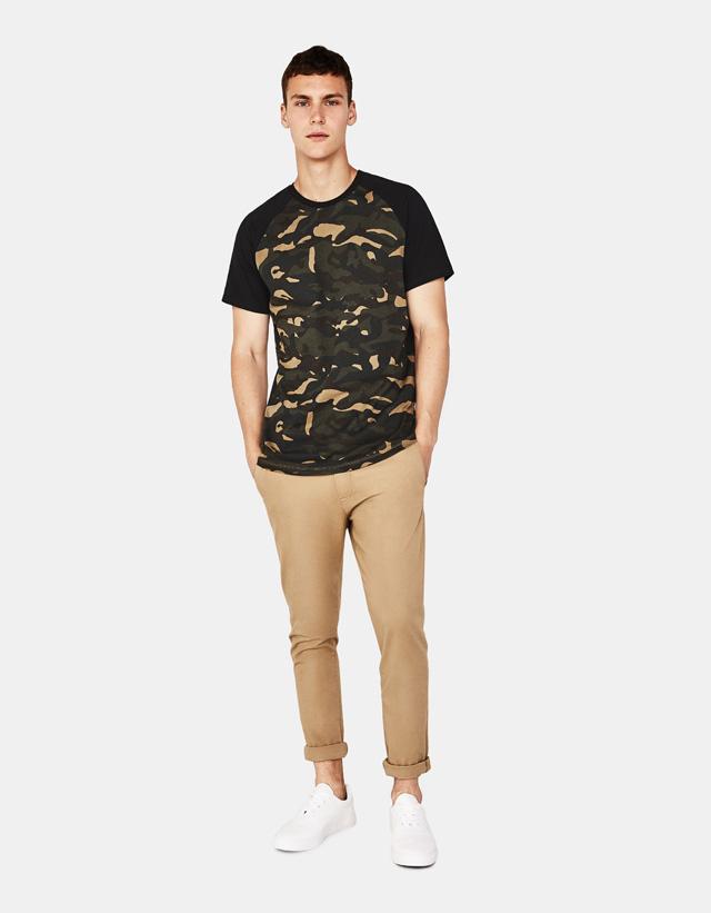 Shirt mit Camouflageprint