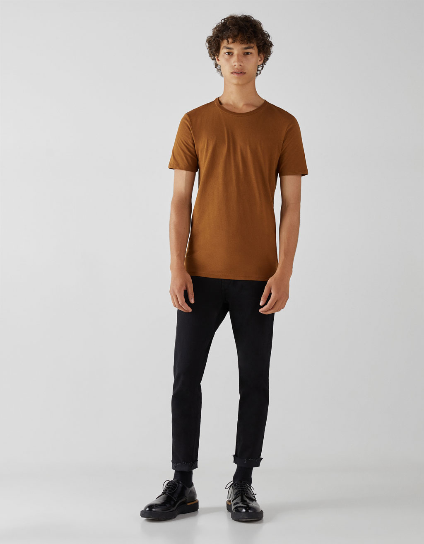 クルーネックコットンTシャツ