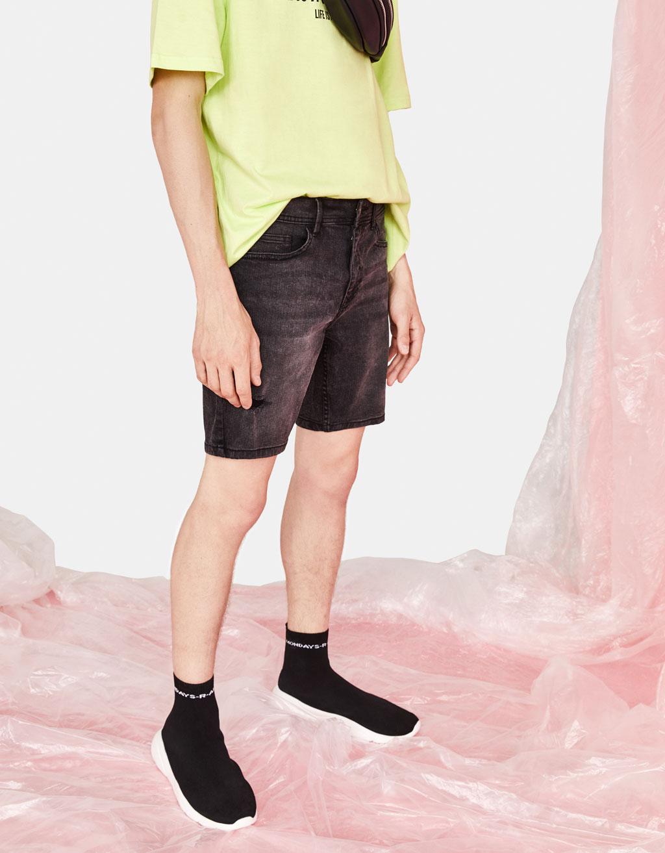 Bermuda jean skinny comfort