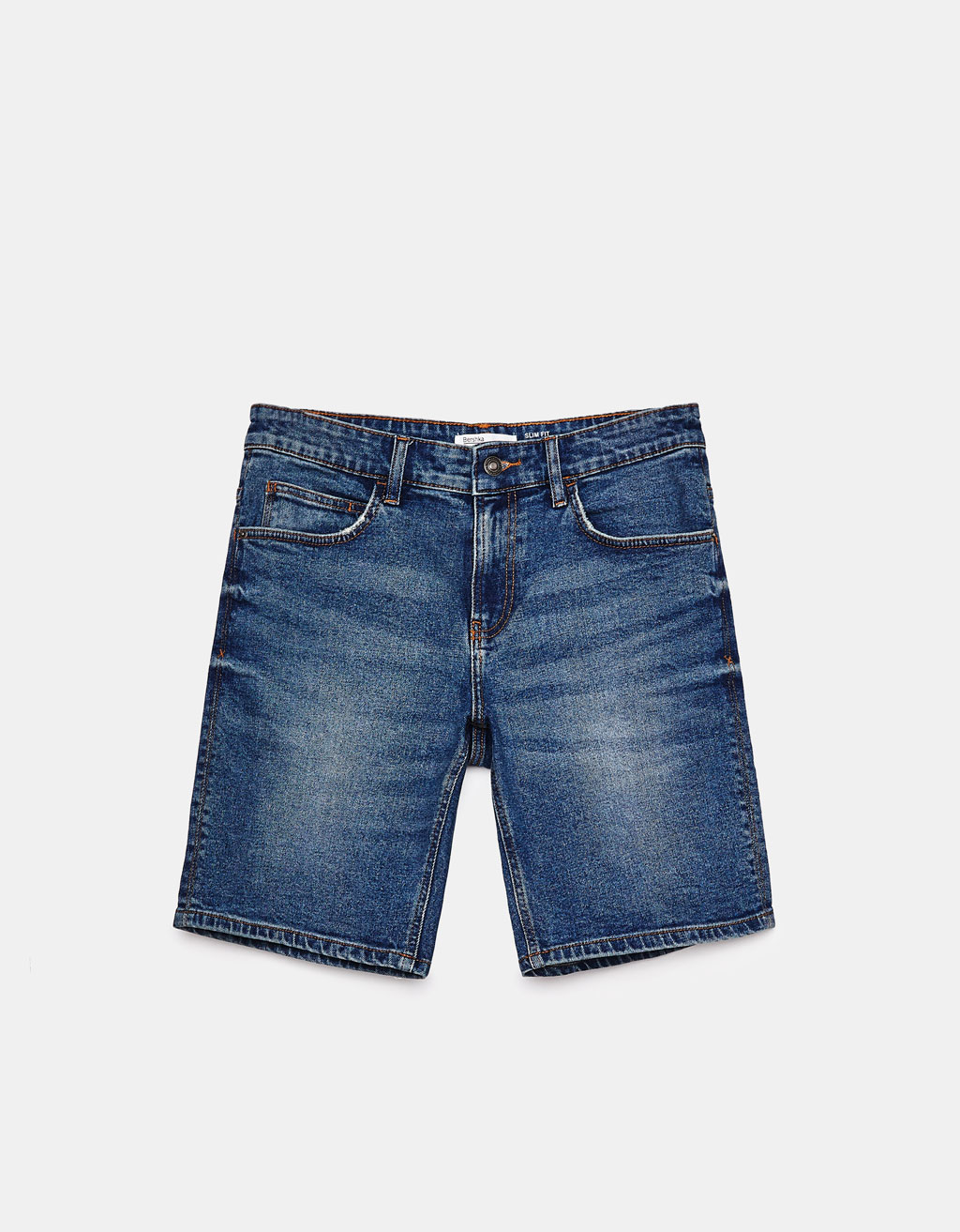 Bermudashorts i denim Slim Fit comfort